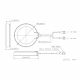 2D construction drawing of the JCG305LM 4G antenna