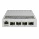frontsite with 4 SFP ports and 1 PoE-In Port