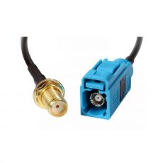 Coaxial pigtail, RG-178, 20´5cm, FAKRA Z socket to SMA socket - suitable for RUT850