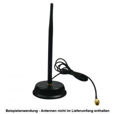Application example with a screwed WiFi antenna