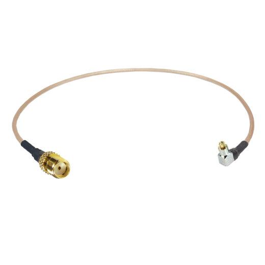 Coaxial pigtail, RG-178, 25cm, SMA female to MC-CARD plug