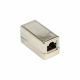 CAT.6A Ethernet coupling with metal housing and 2 x RJ45 socket