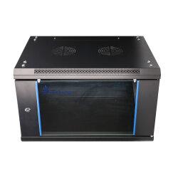 EXTRALINK 6U, 600 x 450mm, wall mounted cabinet, black