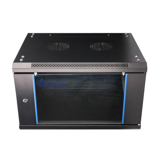 EXTRALINK 6U, 600 x 600mm, wall mounted cabinet, black