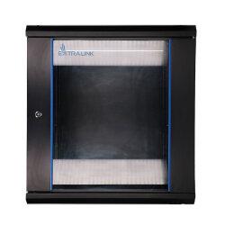 EXTRALINK 12U, 600 x 600mm, wall mounted cabinet, black