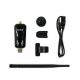 Scope of delivery of the ALFA AWUS036NEH with USB cable, window clip and Wi-Fi antenna