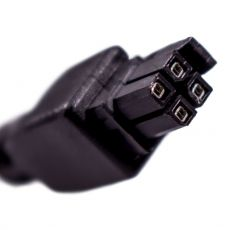 Detail view of the 4-pin connector