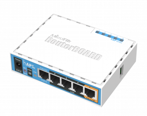 MikroTik hAP ac RB962UiGS-5HacT2HnT wifi router with 5 rj-45 ports one sfp port and one usb port