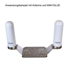Application example with antenna and KM41GLUE