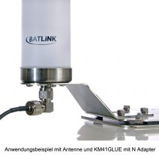 Application example with antenna and KM41GLUE with N adapter
