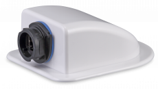 Weatherproof roof duct for Ethernet cables with bayonet lock